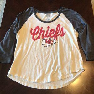 Tops - XL Kansas City Chiefs Women's 3/4 tee